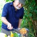 Howard cooks