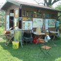 Offenes Bienenhaus