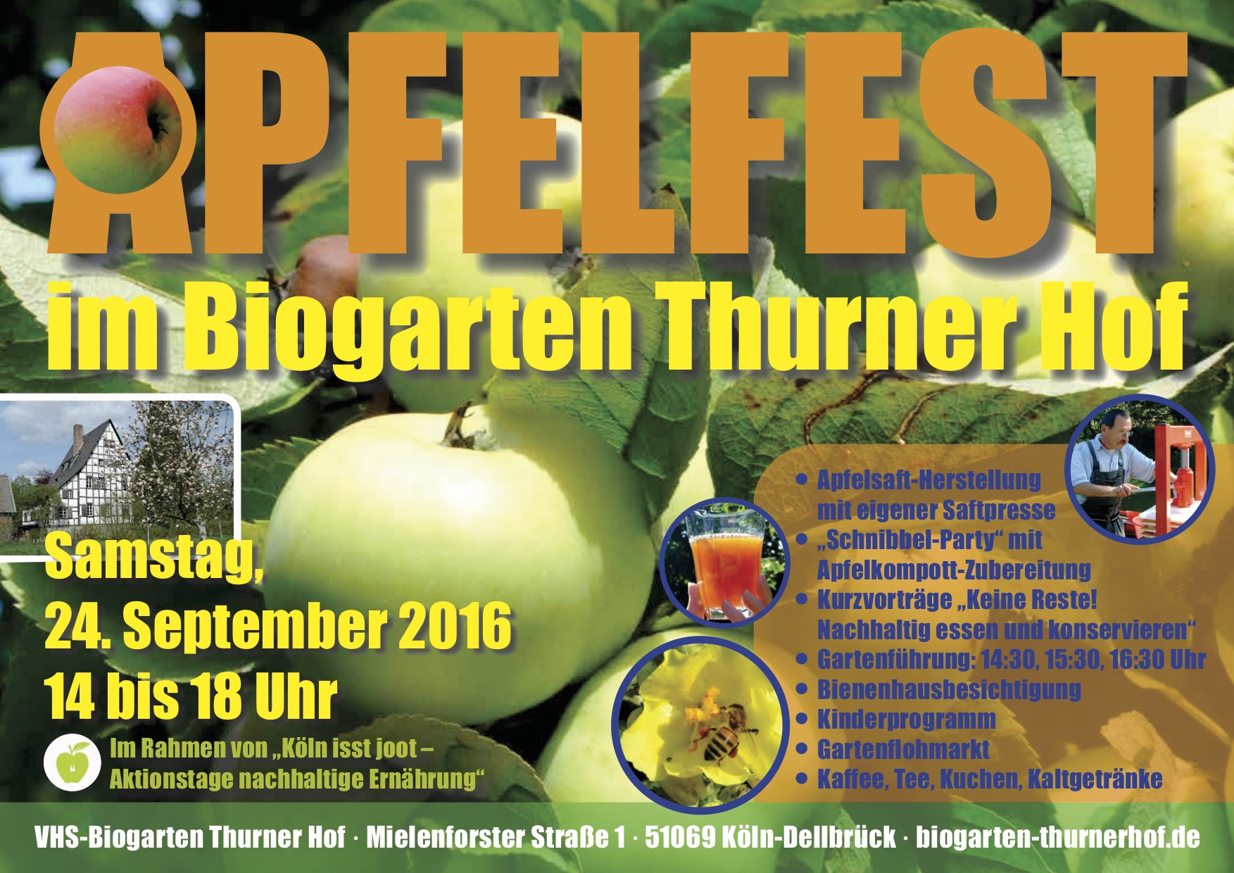 24.9. – Herbstfest im Biogarten: Rund um den Apfel